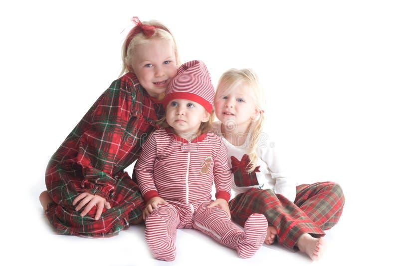 De pyjama's van Kerstmis stock afbeeldingen