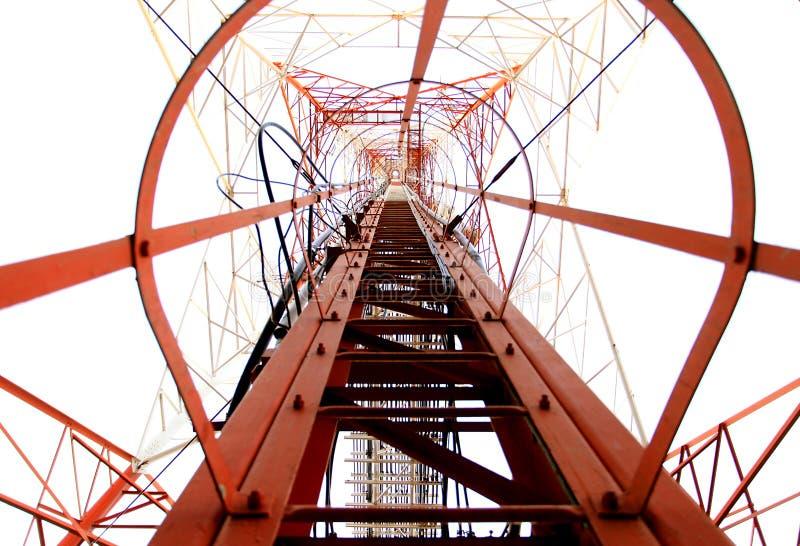 De pyloon van de de hoogspanningsmacht van de elektriciteit stock foto
