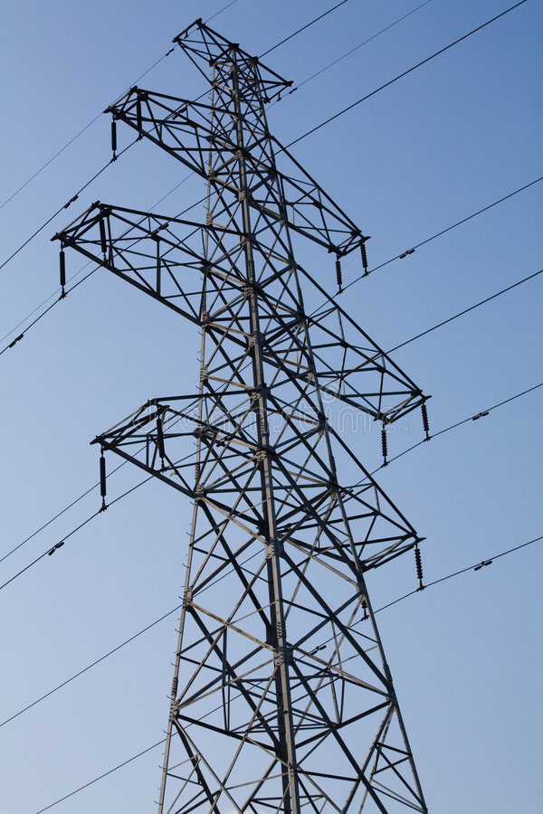 De Pyloon van de elektriciteit royalty-vrije stock afbeelding