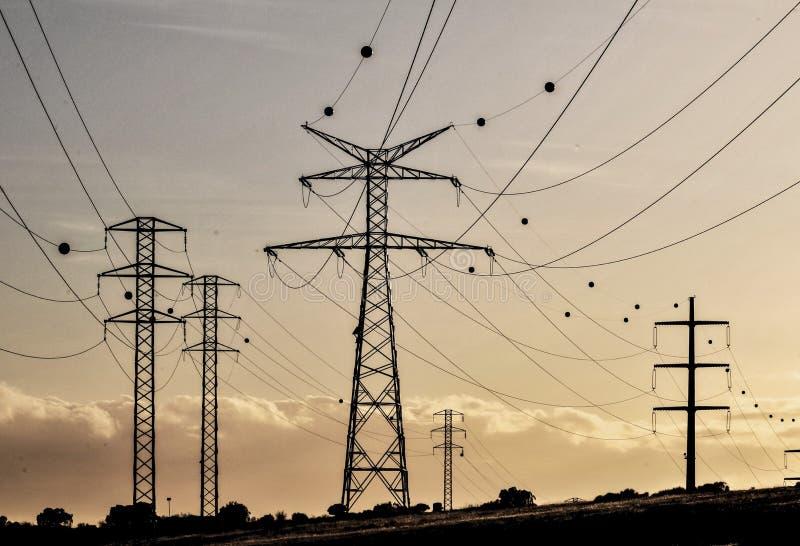 De Pyloon van de elektriciteitsmacht royalty-vrije stock foto's