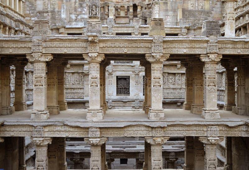 De Queensstap goed Patan, Gujarat, India royalty-vrije stock fotografie