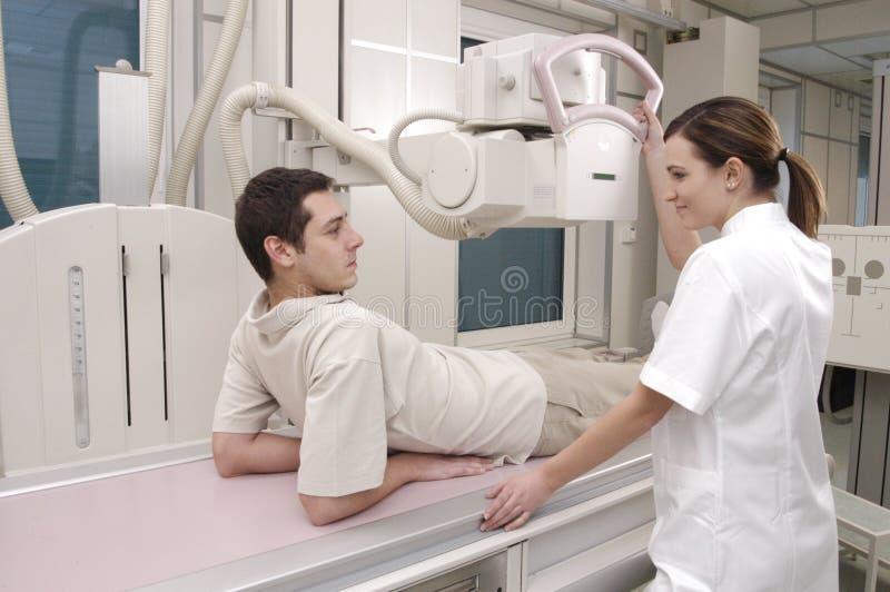 De Röntgenstraal van de patiënt en van de verpleegster royalty-vrije stock foto