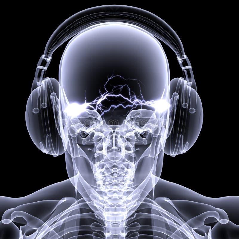 De Röntgenstraal van het skelet - DJ 3 royalty-vrije illustratie
