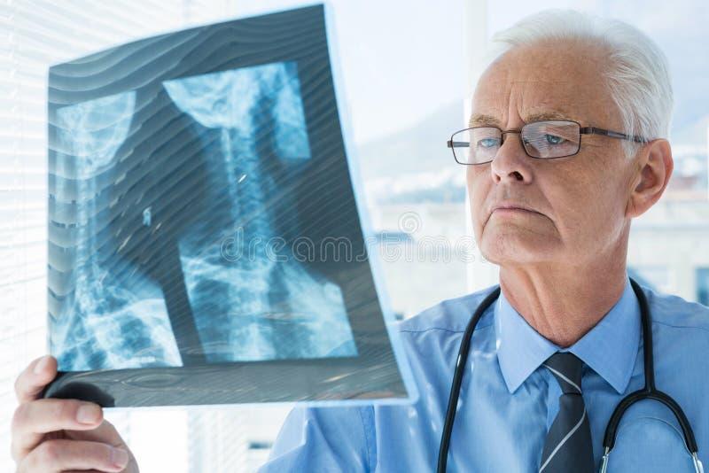 De Röntgenstraalrapport van artsenAnalyzing stock afbeeldingen