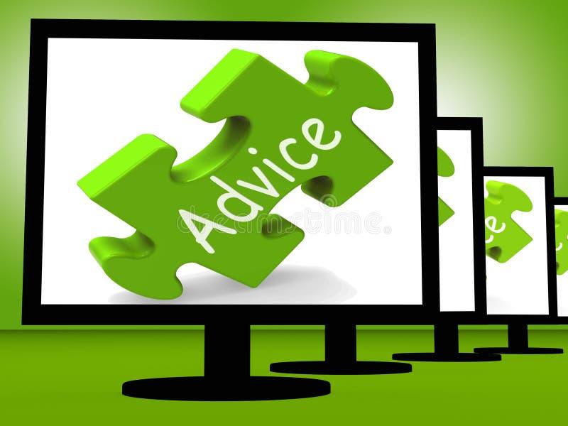De raad op Monitors toont Openbare Begeleiding stock illustratie