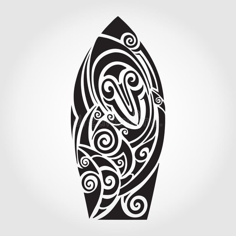 De raad van de branding op kust Garda Haaipatroon royalty-vrije illustratie