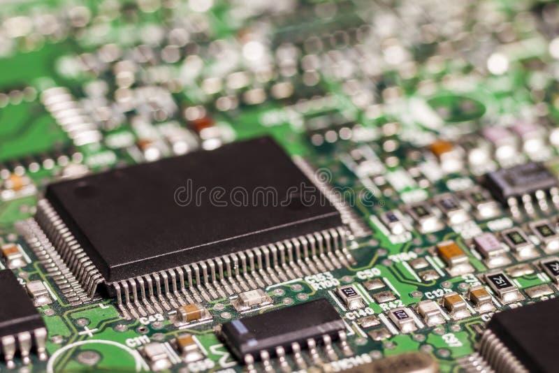 De raad van de kring De technologie van de elektronische computerhardware Motherbo royalty-vrije stock afbeeldingen
