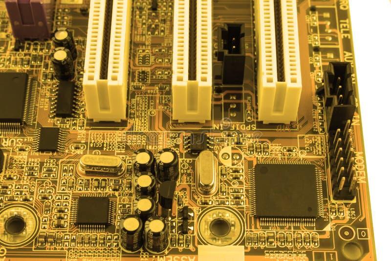 De raad van de kring De technologie van de elektronische computerhardware Motherboard digitale spaander Technologie-wetenschapsac stock foto