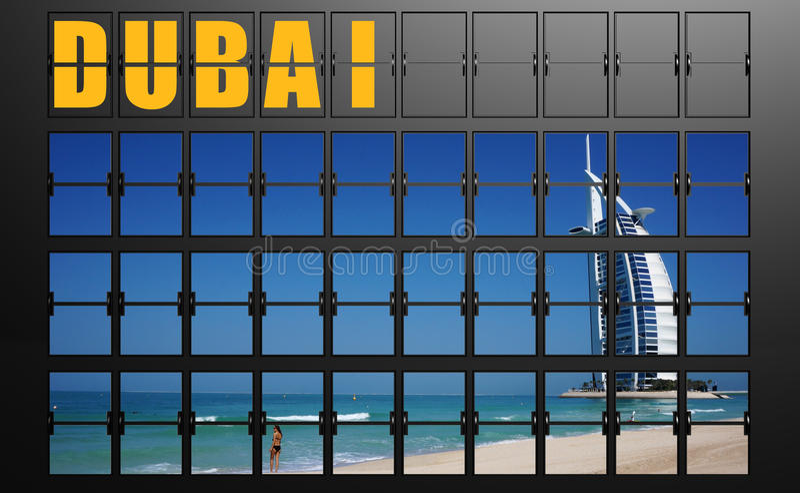 De raad van de luchthavenvertoning van Doubai royalty-vrije illustratie
