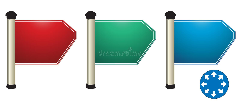 De raad van de richting. royalty-vrije stock fotografie