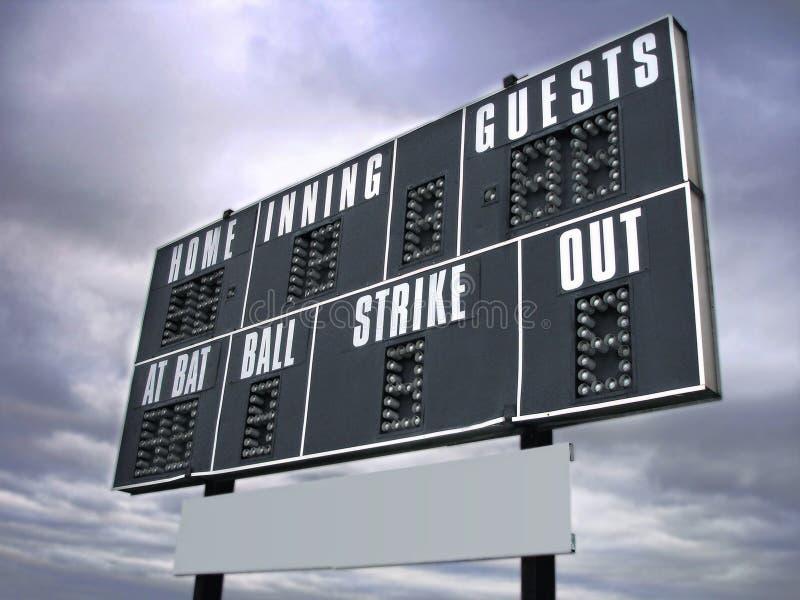 De raad van de score stock afbeeldingen