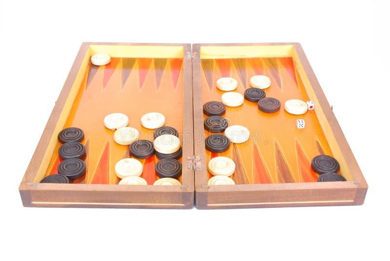 De raad van het backgammon stock afbeeldingen