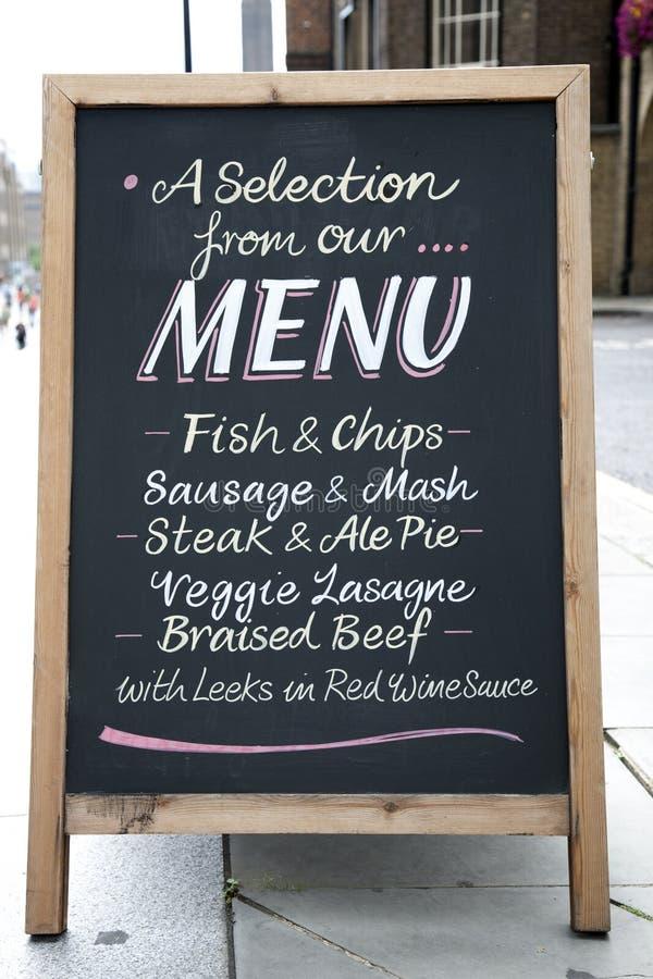 De Raad van het menu stock foto's