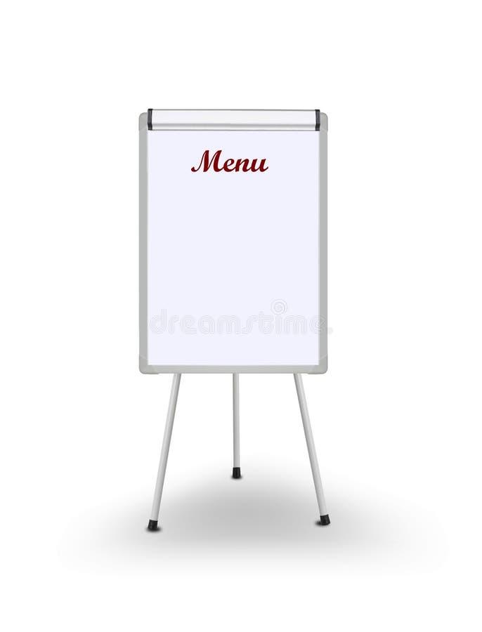 De raad van het menu stock illustratie