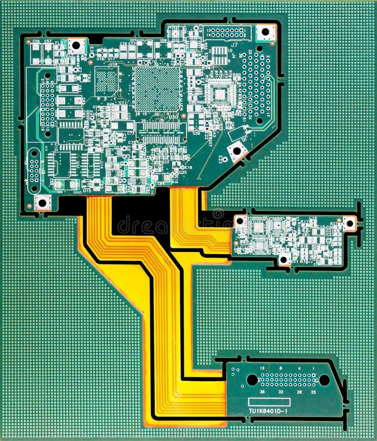 De raad van de kring De technologie van de elektronische computerhardware Motherboard digitale spaander Technologie-wetenschapsac royalty-vrije stock foto