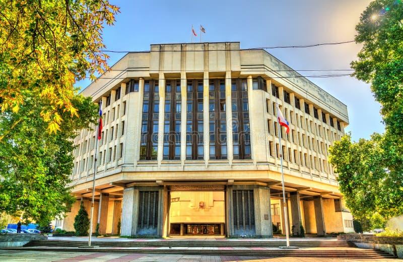 De Raad van de Staat van de Krim in Simferopol royalty-vrije stock afbeeldingen