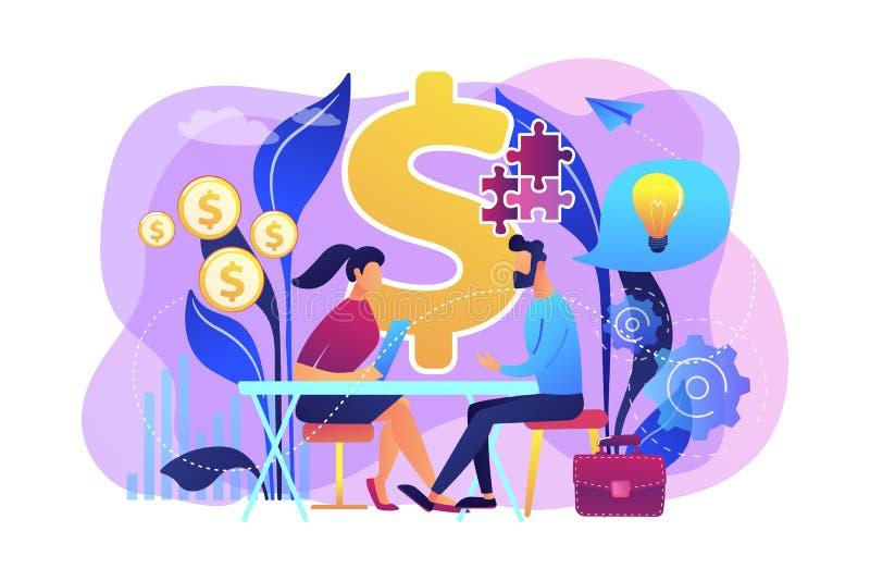 De raadgevende vectorillustratie van het verkoopconcept stock illustratie
