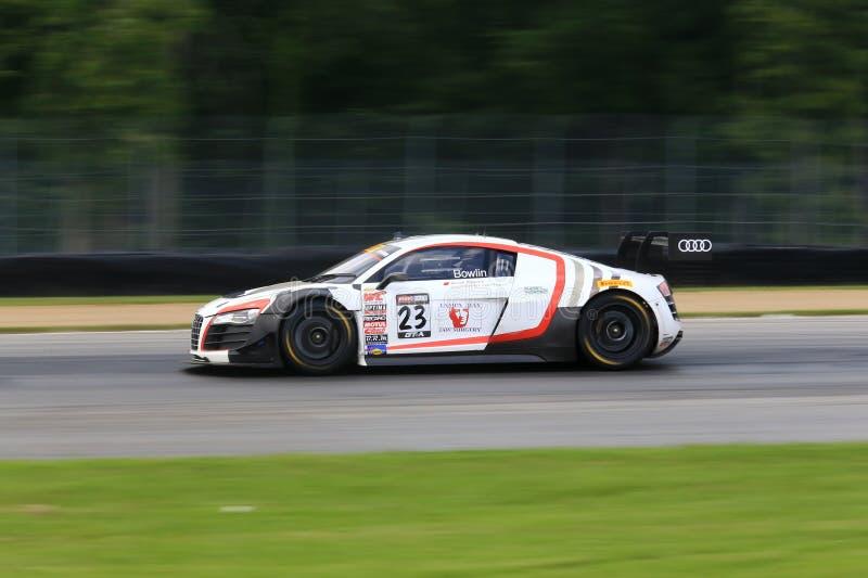 De raceauto van Audi R8 stock foto