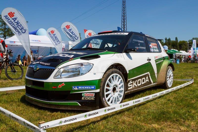 De raceauto van Fabia S2000 stock foto's