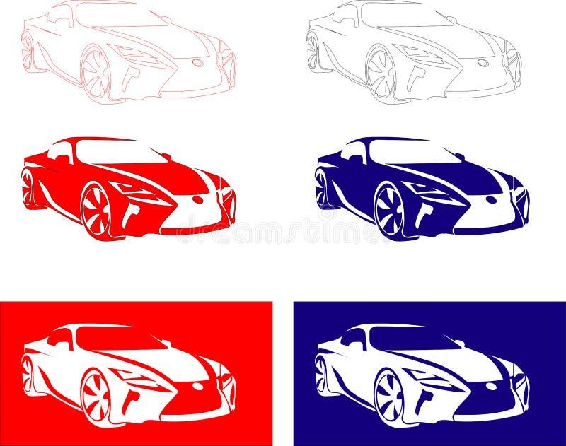 de raceauto van Japan stock afbeelding