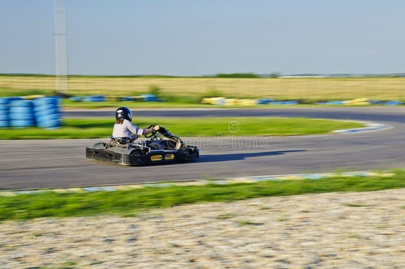 De raceauto van Kart royalty-vrije stock foto's
