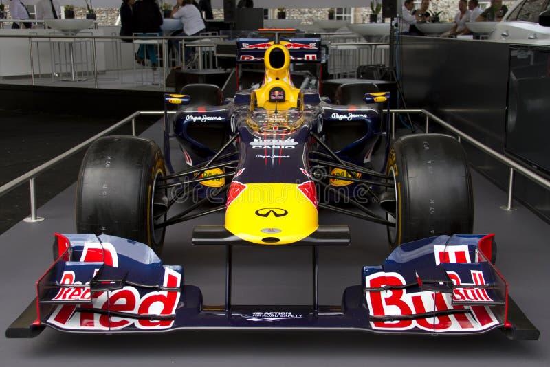 De raceauto van Red Bull RB7 F1 royalty-vrije stock afbeelding