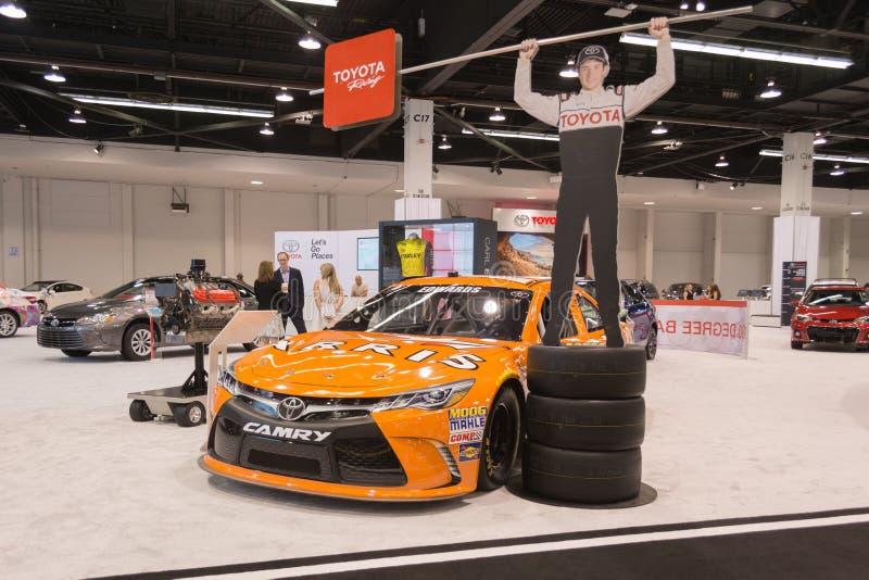 De raceauto van Toyota Camry Nascar op vertoning royalty-vrije stock foto