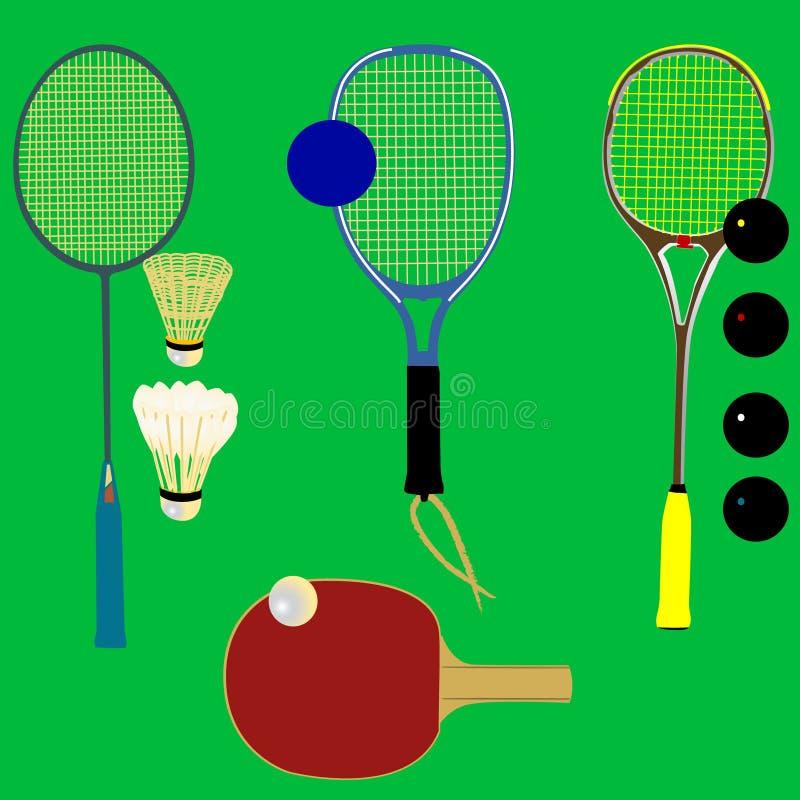 De rackets van de sport - vector royalty-vrije illustratie