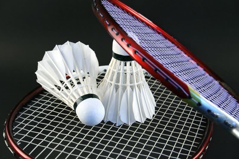 De rackets van het badminton stock foto's