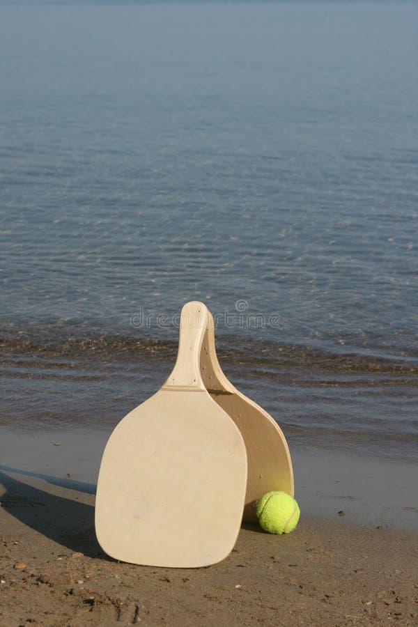 De rackets van het strand stock foto