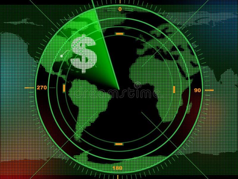 De radar van het geld vector illustratie