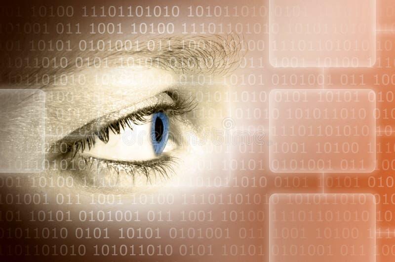 De radar van het het oogaftasten van de technologie royalty-vrije illustratie