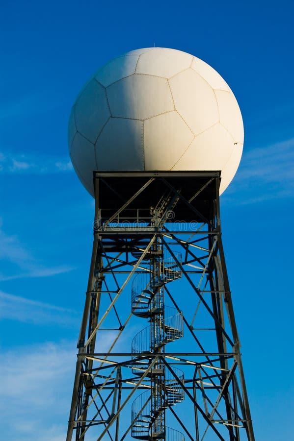 De radarpost van het weer stock afbeeldingen