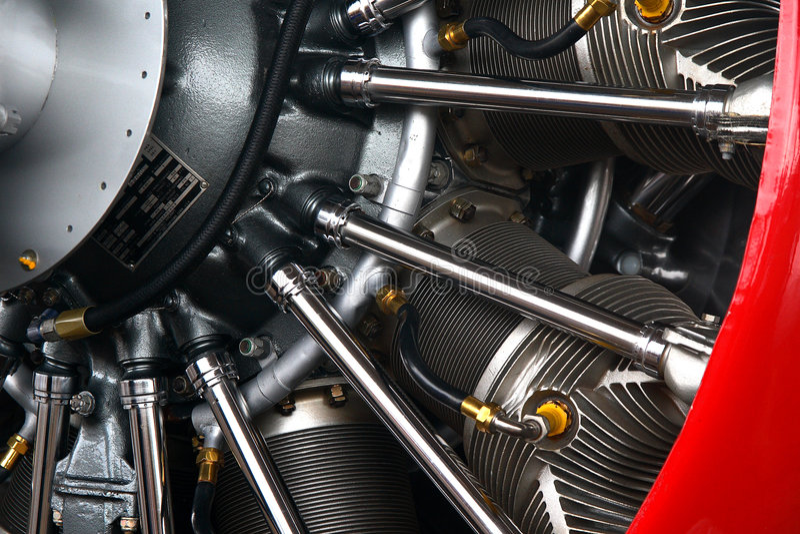 De radiale motor van vliegtuigen stock foto's