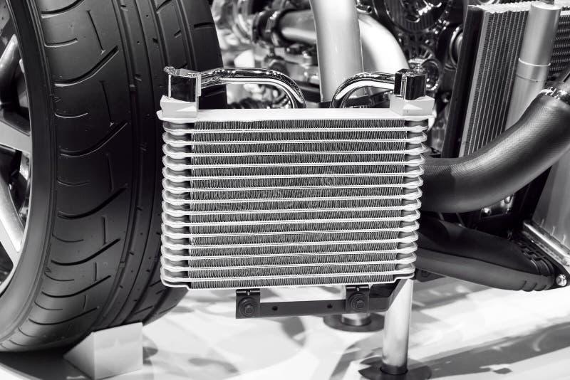 De radiator van de auto stock fotografie