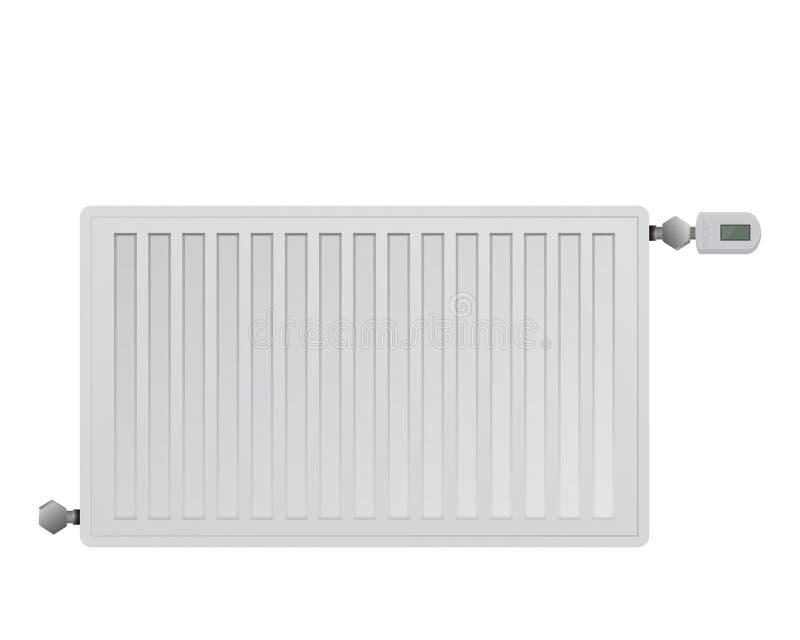 De radiator van het staalpaneel Het leiden van elektronisch thermisch hoofd met een vertoning royalty-vrije illustratie