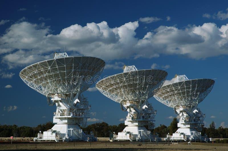 De radio Schotels van de Antenne royalty-vrije stock foto's