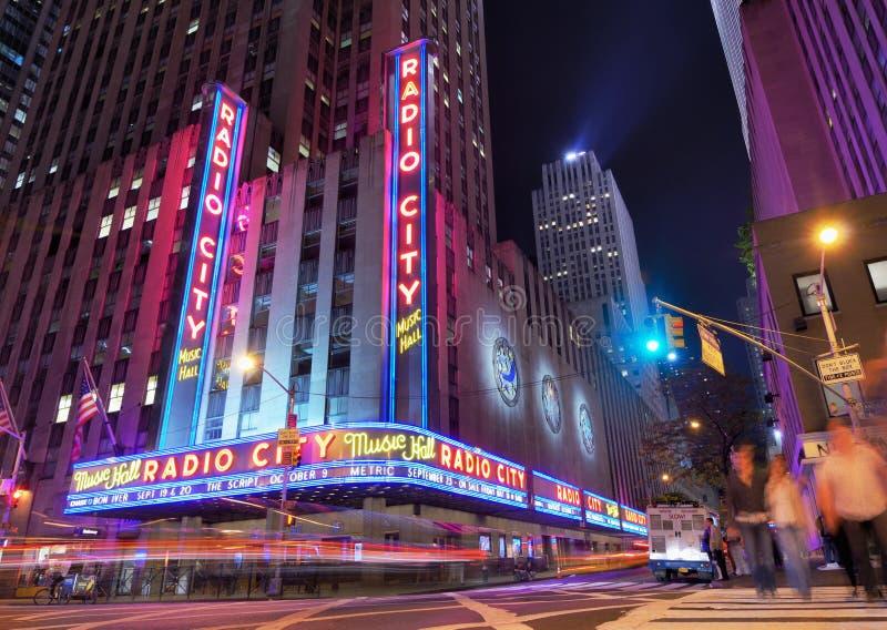 De radio teatro de variedades la ciudad imagen de archivo libre de regalías