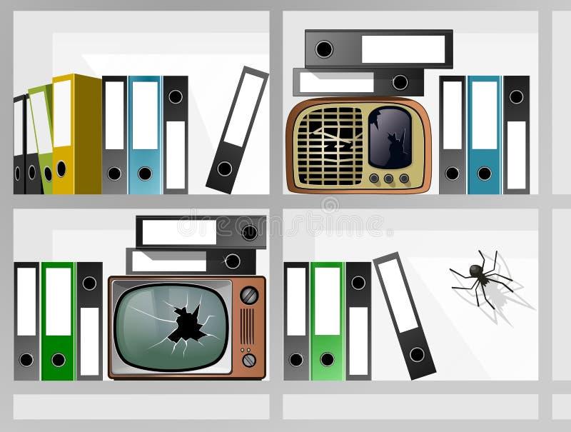 De Radio van de archieventelevisie stock foto's