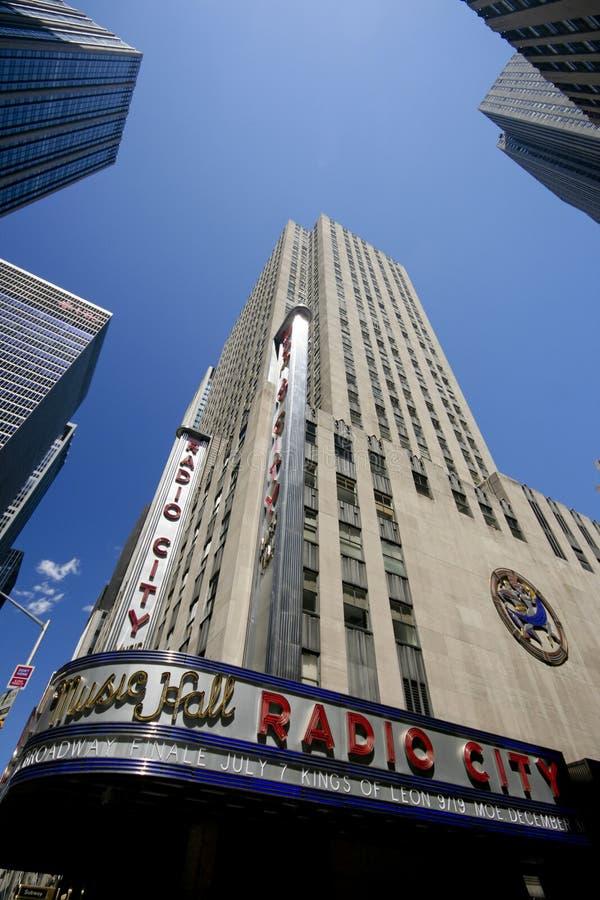 De radio Zaal van de Muziek van de Stad royalty-vrije stock fotografie