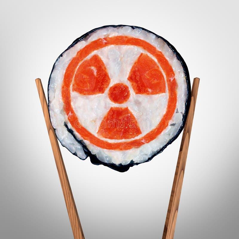 De radioactieve Zorg van de Voedselgezondheid royalty-vrije illustratie