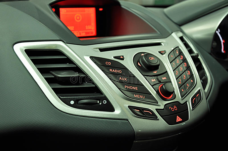 De radiocontrolebord van de auto stock afbeeldingen