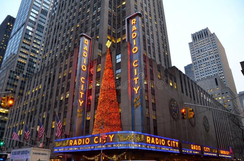 De radiozaal van de Stadsmuziek in Rockefeller-Centrum stock fotografie