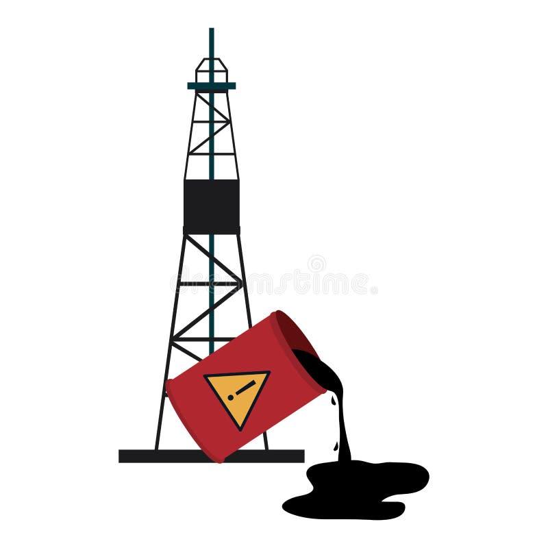 De raffinaderij van de brandstofpomp royalty-vrije illustratie
