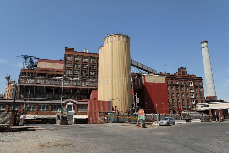 De raffinaderij van de suiker royalty-vrije stock fotografie
