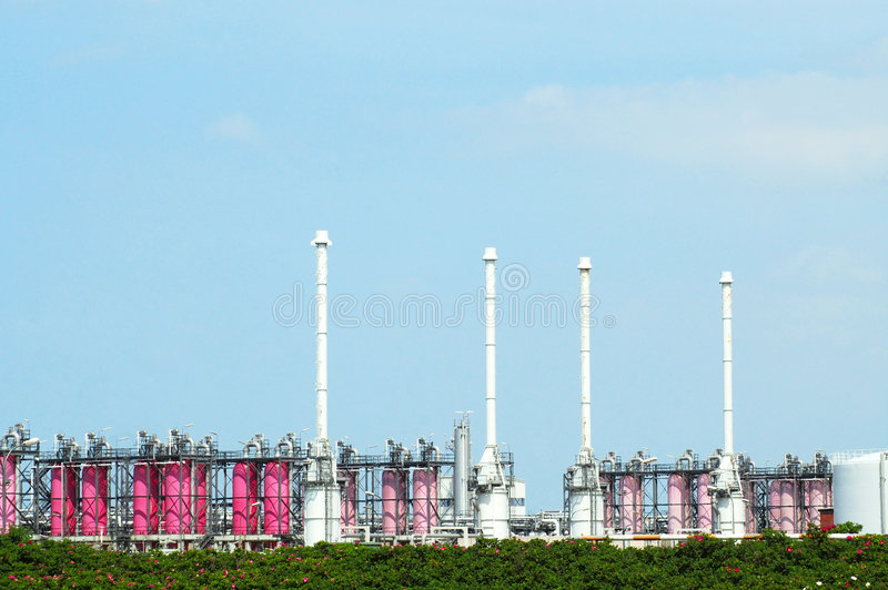 De raffinaderij van het gas royalty-vrije stock fotografie