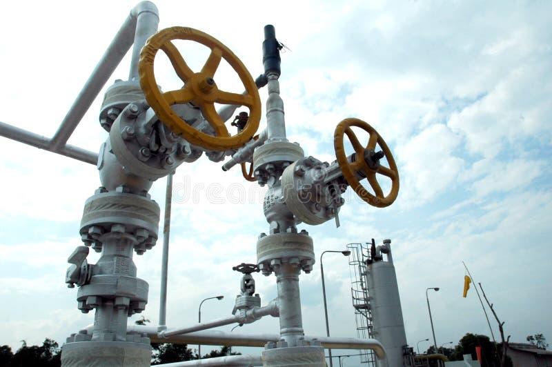 De raffinaderij van het gas stock afbeeldingen