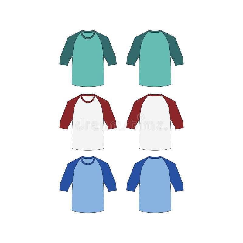 De Raglan T-shirt is Vector stock illustratie