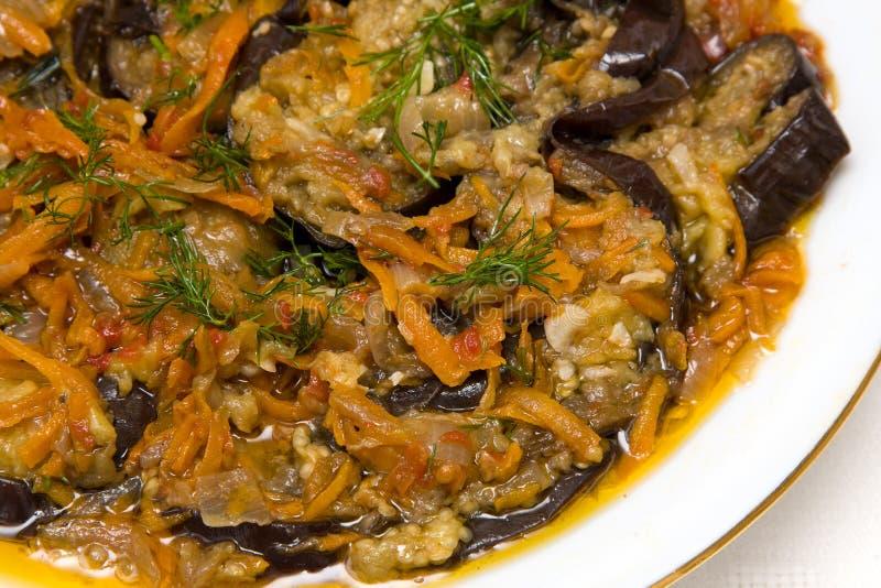 De ragoût van de aubergine royalty-vrije stock afbeelding