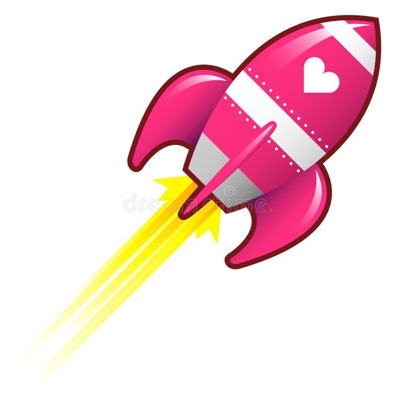 De Raket van de liefde stock illustratie